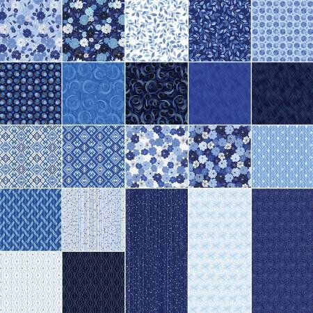 Blue Brilliance Layer Cake Benartex Fabrics Blb10pk 42 10 X 10 Squares Blue And White Floral Layer Cake Blue Flo Fabric Squares Fabric Floral Fabric