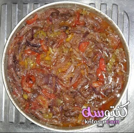 مكونات صينية بطاطس بالسجق و الطماطم طريقة عمل صينية خضار مشكل بالسجق وصفة السدق البلدى بالخضار Meat Food Beef