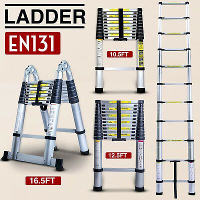 Ad Ebay Url 10 5 12 5 16 5ft Multipurpose Aluminum Ladder Fold Extend Telescopic Garden Tool In 2020 Telescopic Ladder Aluminium Ladder Ladder