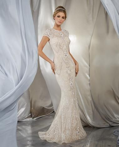 Beaded Glamorous Sheath Wedding Dress In 2020 Wedding Dresses Fancy Wedding Dresses October Wedding Guest Dress
