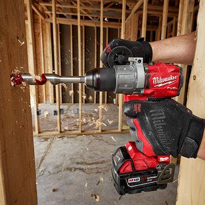 M18 Fuel 1 2 Hammer Drill 2 Batteries Case Kit Milwaukee Tool Milwaukee Tools Tools Tool Holder