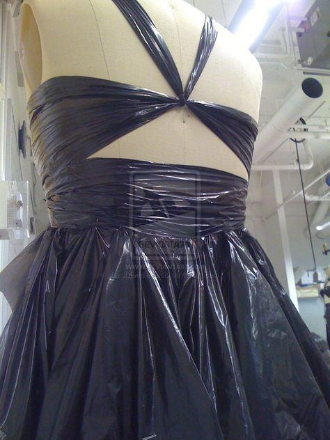 Garbage Bag Dress (back view)