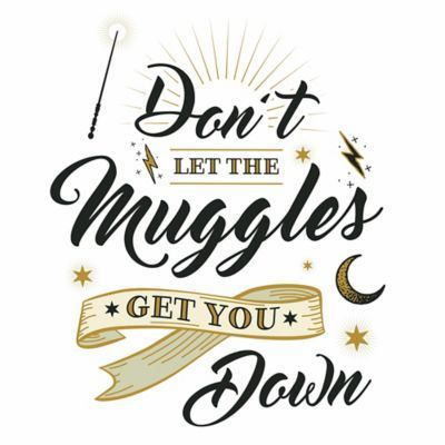 Harry Potter Muggles Quote Peel & Stick Wall Decal