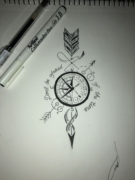 65 ideas for a beautiful and meaningful compass tattoo %%page%% - Architecture E-zine