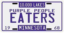 Minnesota Vikings Purple People Eaters 1968 License plate