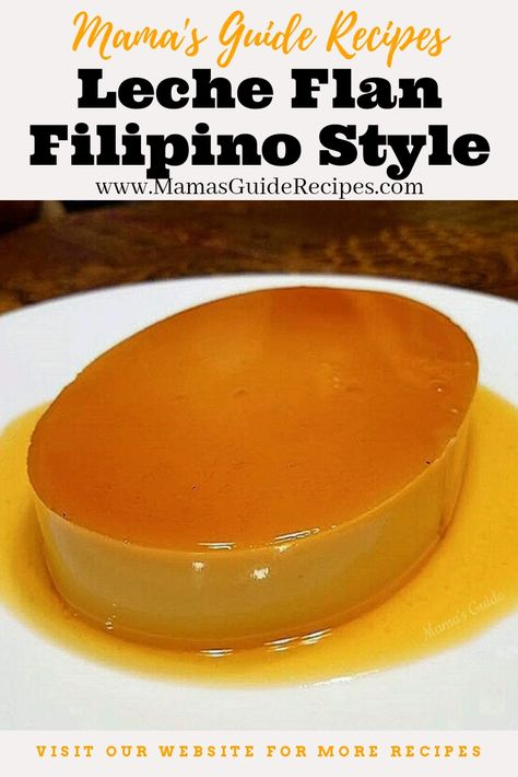 This Leche Flan Special Recipe is the traditional way of cooking Leche flan. So smooth, creamy and delicious, just like our grand mothers leche flan. Although there are numerous versions of this recip Easy Filipino Recipes, Filipino Desserts, Filipino Food, Cuban Recipes, Vegetarian Recipes, Leche Flan Recipe Philippines, Best Flan Recipe, Baked Leche Flan Recipe, Cuban Flan Recipe