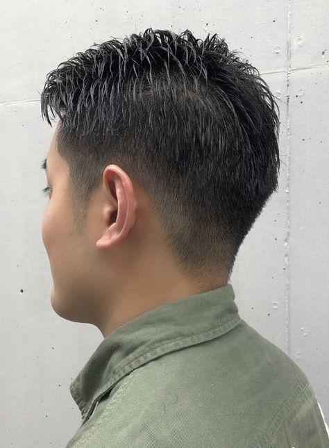外国人風 刈り上げバーバーショート 髪型メンズ ヘアカット ヘア