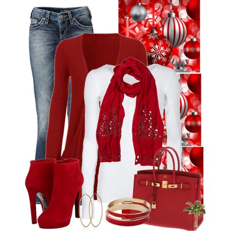 """""""I love Christmas"""" by cindycook10 on Polyvore- YES, I have worn this exact out fit... I love complements on & off the bike!"""