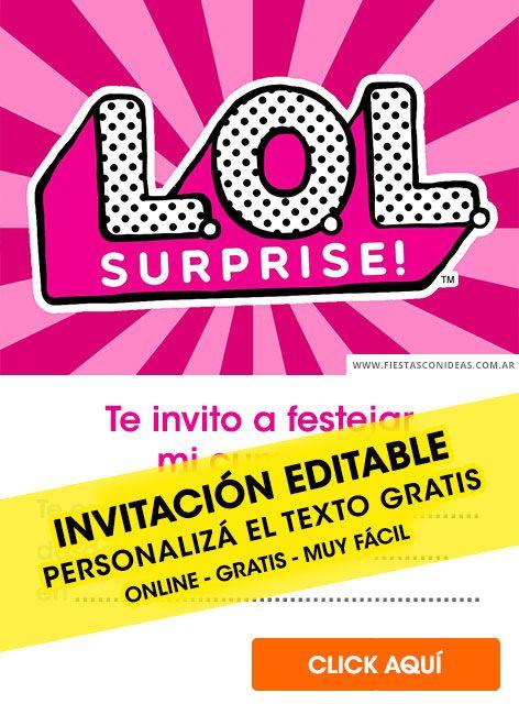 Tarjeta De Cumpleaños De Lol Surprise Tarjetas Invitacion
