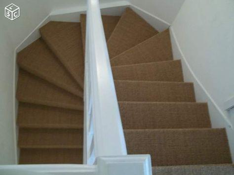 Escalier En Blanc Avec Jonc De Mer Casa Amenagement