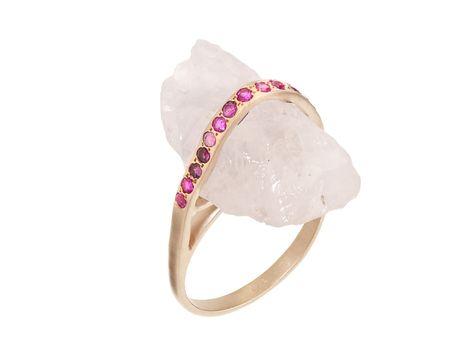 Rose Quartz Regal Rock Ring | Didi Jewellery