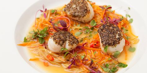 Andrew Mackenzie's scallop and seaweed dazzles on the plate but is very simple to prepare