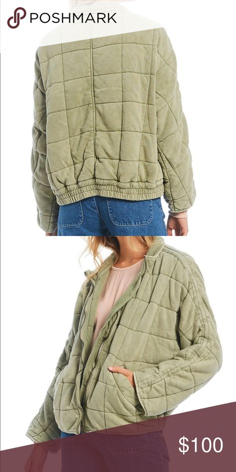 Free People Dolman Quilted Jacket Size Large Worn twice  Mint condition Free People Jackets & Coats