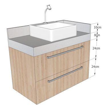 ผลการค นหาร ปภาพสำหร บ Altura Bancada Banheiro Muebles De Baño Diseño De Baños Chicos Diseño De Baños