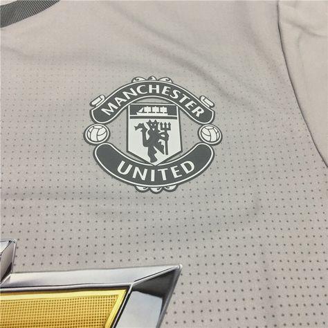 a3a4de0b721 17-18 Manchester United Third Away Gray Soccer Jersey Shirt(Player Version)