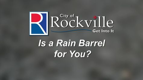 """In Part 2 of the City of Rockville's RainScape series, """"Is a Rain Barrel Right For You?"""" helps residents determine the best place to install a rain barrel. It also tells them how much it costs, and what important characteristics to look for when purchasing a rain barrel."""