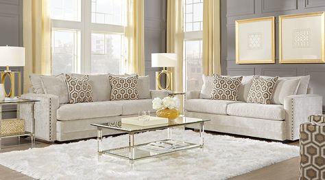 sofia vergara montecito beige 5 pc living room furniture rh pinterest ru