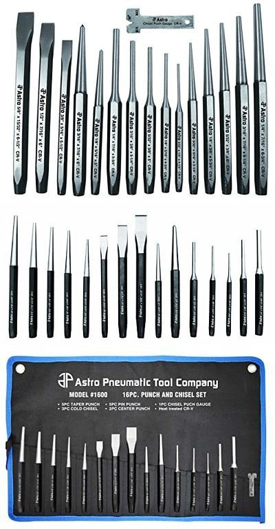 Punches 50380 Astro 1600 16 Piece Punch And Chisel Set Buy It Now Only 20 92 On Ebay Punches Astro Punch C Chisel Set Pin Tool Camping Gear Survival