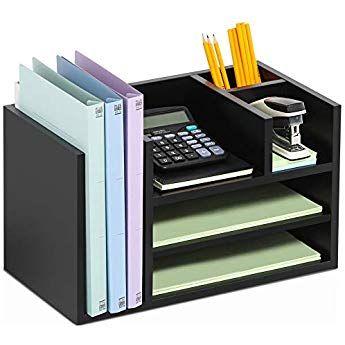 Fitueyes Schreibtisch Ablagesystem Tisch Organizer Aus Holz Schwarz Do304202wb Diy Schreibtischorganisation Papierablage Ordnung Auf Dem Schreibtisch