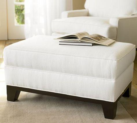 Seabury Upholstered Ottoman Furniture Perch Ottoman