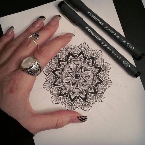 ~Work in progress~✍ A5 mandala drawing ♡ • • • • #mandala #mandalaart #mandalastyle #mandalas #mandaladrawing #lovedrawing #zentangle…