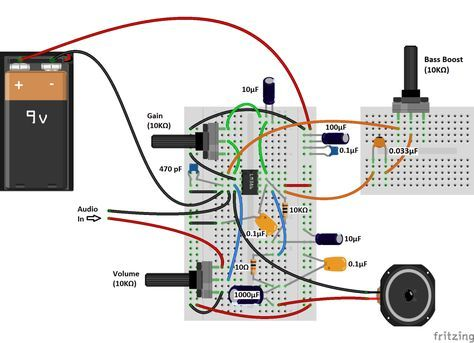 Build A Great Sounding Audio Amplifier With Bass Boost From The