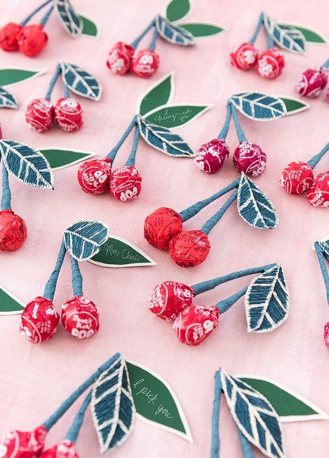 Tootsie Pop Cherry Valentines - The House That Lars Built
