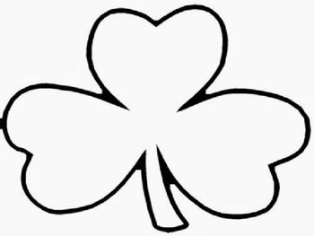 Holy Trinity Shamrock Shamrock Template Coloring Pages