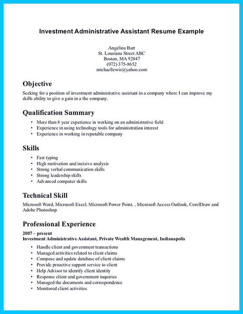 Claims Assistant Sample Resume In Writing Entry Level Administrative Assistant Resume You Need To .