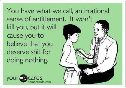 Bahaha deadbeat baby mama's who live off the gov't, child support and their mommies and won't get a damn job themselves to support their own children. Bitch you spread your damn legs so many times, it's time you learn what it really means to support your children on your own! *rant over;)*