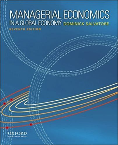 Dominick Salvatore Managerial Economics Problems Answers