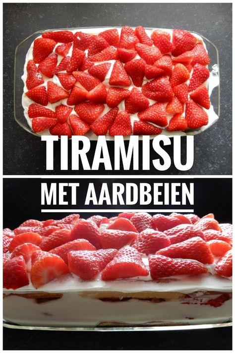 Aardbeientiramisu, het lekkerste toetje met heel veel aardbeien!