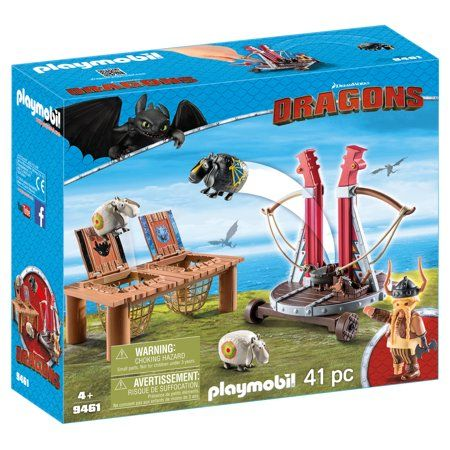 Playmobil How To Train Your Dragon Ii Gobber The Belch With Sheep Sling Doll Playset Walmart Com In 2021 Playmobil Dreamworks Dragons How Train Your Dragon