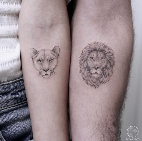 Lioness • Lion Couple Tattoos | Tattoo Ideas and Inspiration