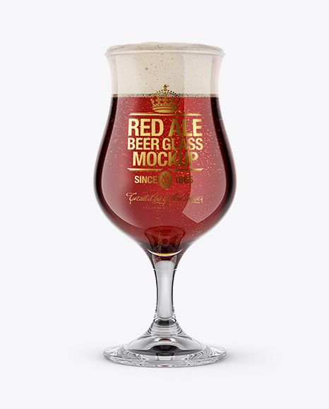 Tulip Glass With Red Ale Mockup In Cup Bowl Mockups On Yellow Images Object Mockups Mockup Psd Mockup Free Psd Free Psd Mockups Templates
