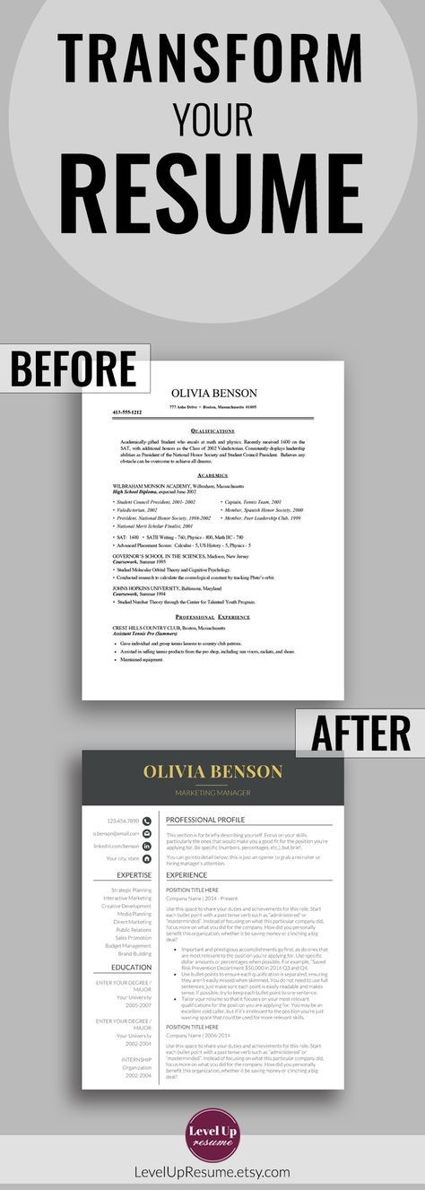 Creative Resume Template Resume Templates Template Of Resume Etsy Resume Words Good Resume Examples Resume Templates