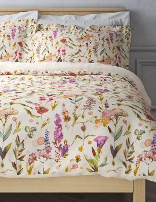 Brooklyn Pure Cotton Striped Bedding Set Floral Bedding Sets Floral Bedding Bedding Set