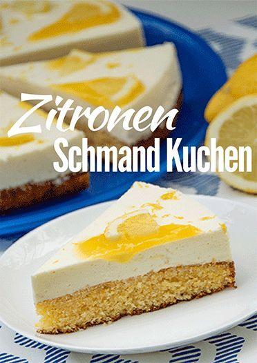 Zitronen Schmand Kuchen Mit Lemon Curd Kuchenmomente Der Backblog Rezept Kuchen Kuchen Rezepte Schmandkuchen