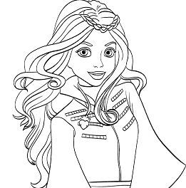 Evie From Descendants Descendants Coloring Pages Art Drawings Sketches Creative Coloring Pages