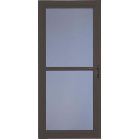 Larson Tradewinds Premium Brown Full View Aluminum Storm Door With Retractable Screen Common 32 In X 81 In Actual 31 75 In X 79 75 In Somerset Aluminu