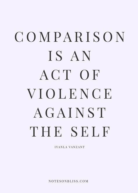 Comparison is an act of violence against the self. Self love. self love tips. self love quotes. self love inspiration. self love affirmations. self acceptance. Positive Affirmations, Positive Quotes, Motivational Quotes, Inspirational Quotes, Great Quotes, Quotes To Live By, Life Quotes, Quotes On Self Love, Quotes Quotes