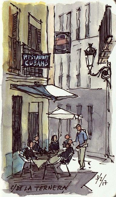 Calle Ternera Landscape Sketch Urban Sketching Landscape