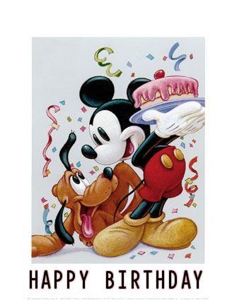 Free Disney Birthday Ecards Mickey Mouse Disney Mickey Mouse Disney Art