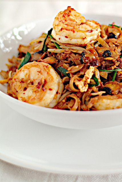 My favorite food in the world!!!  One of the best examples of tasty Malaysian food - Penang Char Kuey Teow