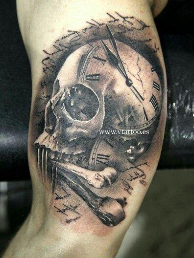24+ Tatouage horloge tete de mort inspirations