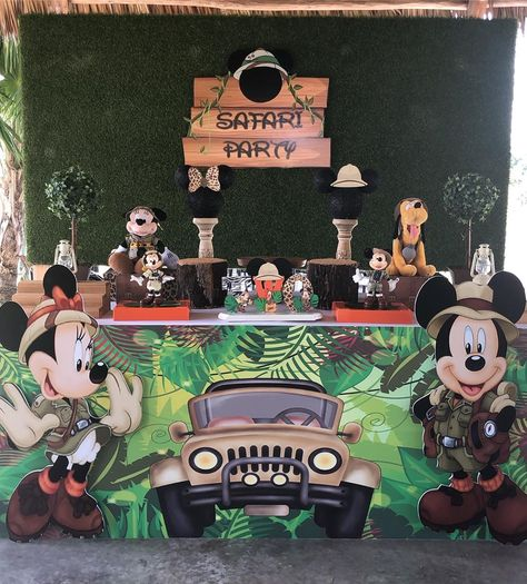 Mickey Enjoyed, his safari party 🎉 with Julian so much . Thank you for letting us be part of your 2nd Birthday 🎂 😘 #Mickey #safari #safaripartyideas #mickeysafariparty #partyrental #decorationideas #balloondecorations #time2party #miami
