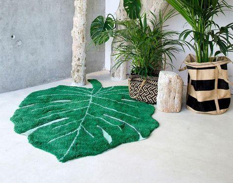 Monstera Leaf Rug Design By Lorena Canals Lake O Pinterest