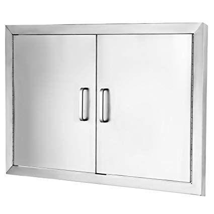 Vevor Access Door 304 Stainless Steel Bbq Doors 31 X24 Double Access Door Vertical Rust Resistant Stainless Doo Outdoor Storage Units Lockable Storage Storage