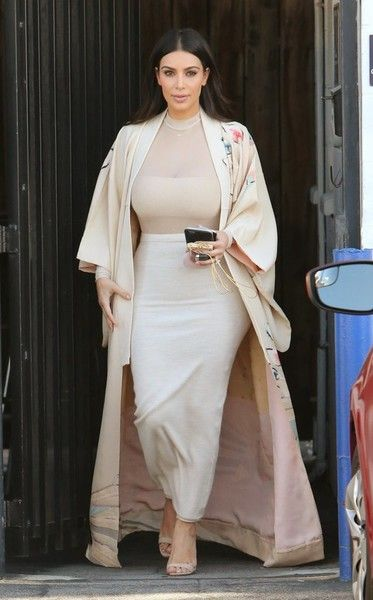 Reality star Kim Kardashian is spotted at a studio in Van Nuys, California on April 27, 2016.