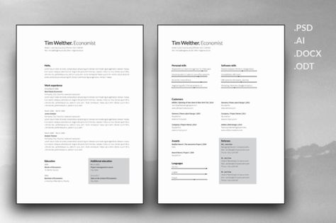 Server Resume Template by Elissa Bernandes on @Graphicsauthor - food service resume templates